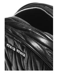 Miu Miu - Black Moon Matelassé Leather Shoulder Bag - Lyst