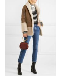 MiH Jeans - Brown Rainey Reversible Shearling Coat - Lyst