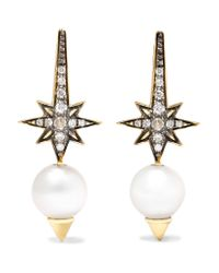 Venyx | Metallic Theiya 18-karat Gold Multi-stone Earrings | Lyst