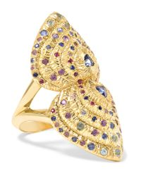 Venyx | Metallic Bear Paw 18-karat Gold Multi-stone Ring | Lyst