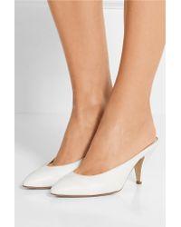 Mansur Gavriel | White Heel Slipper Leather Mules | Lyst