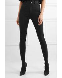 Balenciaga Black Cosmetic Pantashoe Spandex Skinny Pants