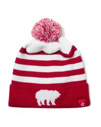 Perfect Moment | Red Pompom-embellished Merino Wool-blend Beanie | Lyst