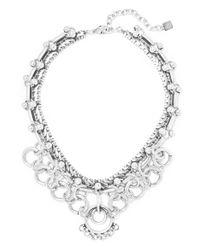 DANNIJO - Metallic Neptuna Oxidized Silver-plated Necklace - Lyst