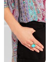 Katerina Makriyianni | Metallic Silver, Gold-plated And Turquoise Ring | Lyst