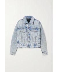 Alexander Wang Blue Padded Denim Jacket