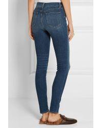 J Brand | Blue Maria High-rise Skinny Jeans | Lyst