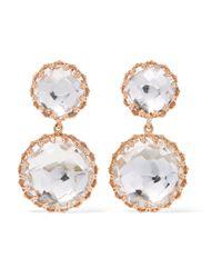 Larkspur & Hawk | Metallic Olivia Rose Gold-dipped Quartz Earrings | Lyst