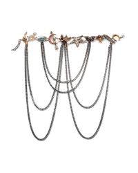 Alexander McQueen - Metallic Silver-tone Multi-stone Necklace - Lyst