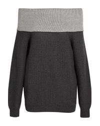 Maiyet | Gray Off-the-shoulder Cashmere-blend Sweater | Lyst