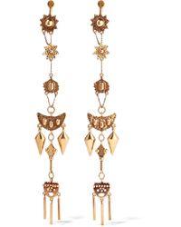 Chloé - Metallic Layton Hammered Gold-tone Earrings - Lyst