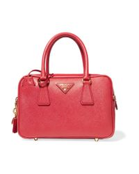 Prada | Bauletto Textured-leather Tote | Lyst