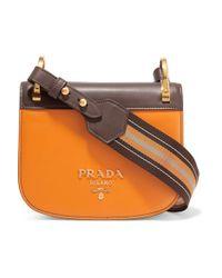 Prada Multicolor Pionnière Leather Saddle Bag