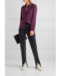 Vanessa Seward Multicolor Carly Silk Shirt
