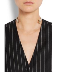 Givenchy - Multicolor Gold-tone Faux Pearl Choker - Lyst