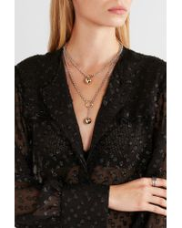 Isabel Marant - Metallic Silver And Gold-tone Necklace - Lyst