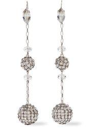 Isabel Marant - Metallic Silver-tone Crystal Earrings - Lyst