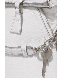 Maison Margiela White 5ac Baby Textured-leather Tote