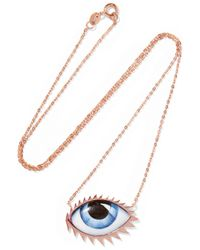 Lito - Multicolor + Zeus+dione Tu Es Partout 14-karat Rose Gold Enamel Necklace - Lyst