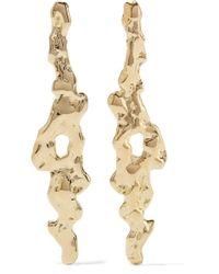 Jennifer Fisher Metallic Molten Gold-plated Earrings
