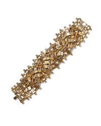 Erickson Beamon | Metallic River Song Gold-plated Crystal Bracelet | Lyst