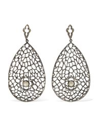 Loree Rodkin - Metallic 18-karat Rhodium White Gold Diamond Earrings - Lyst
