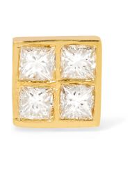 Ileana Makri - Metallic Pixel 18-karat Gold Diamond Earring - Lyst