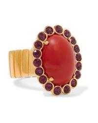 Miu Miu | Multicolor Gold-tone, Crystal And Cabochon Ring | Lyst