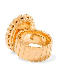 Miu Miu - Multicolor Gold-tone, Crystal And Cabochon Ring - Lyst