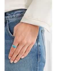 Monica Vinader - Metallic Sterling Silver Turquoise Ring - Lyst