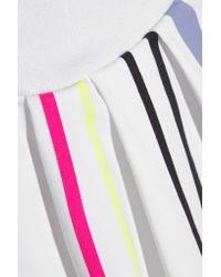 Monreal London - White Striped Pleated Stretch-jersey Tennis Skirt - Lyst