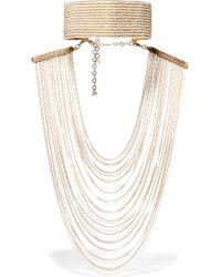 Rosantica | Metallic Eleonora Convertible Gold-tone Pearl Necklace | Lyst