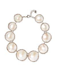 Rosantica Metallic Carducci Palladium-tone Mother-of-pearl Necklace