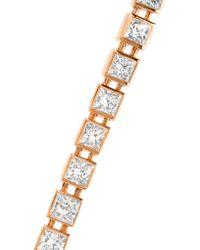Tiffany & Co. - Multicolor T Tennis Medium 18-karat Rose Gold Diamond Bracelet - Lyst