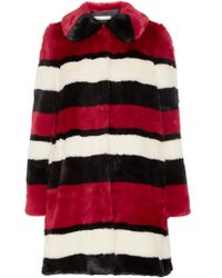 Alice + Olivia | Multicolor Kinsley Oversized Striped Faux Fur Coat | Lyst