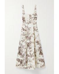 Nicholas White Kiki Floral-print Stretch-cotton Twill Midi Dress