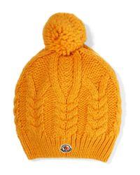 Moncler - Yellow Beanie - Lyst
