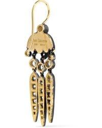 Fred Leighton - Metallic Collection Budding Flower Dart 18-karat Gold Diamond Earrings - Lyst