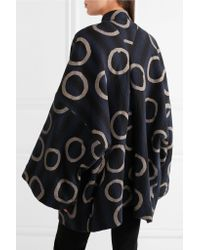 Vivienne Westwood Anglomania Blue Joan Printed Cotton-blend Coat