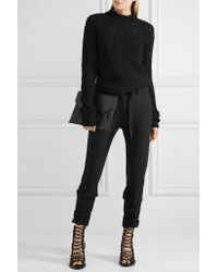Rick Owens - Black Ribbed Cotton Sweater - Lyst