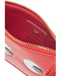 Anya Hindmarch Loose Pocket Embossed Textured-Leather Pouch
