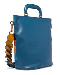 Anya Hindmarch - Blue Orsett Paneled Leather, Calf Hair And Ayers Tote - Lyst