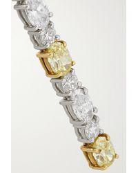 Bayco Metallic Ohrringe Aus Platin Und 18 Karat Gold Mit Diamanten