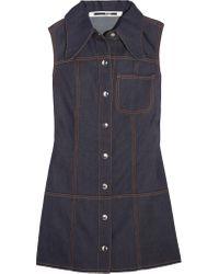 McQ Alexander McQueen - Blue Marianne Denim Mini Dress - Lyst