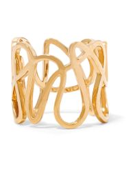 Repossi | Metallic White Noise 18-karat Gold Ring | Lyst
