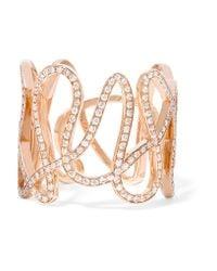 Repossi | Metallic White Noise 18-karat Rose Gold Diamond Ring | Lyst