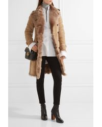 Burberry - Multicolor Toddingwall Shearling Trench Coat - Lyst