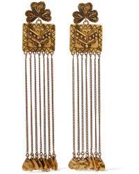 Chloé | Metallic Maddie Hammered Gold-tone Earrings | Lyst