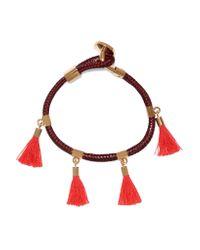Chloé | Pink Gold-tone And Tasseled Cotton Bracelet | Lyst