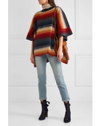 Chloé - Multicolor Merino Wool And Cashmere-blend Poncho - Lyst